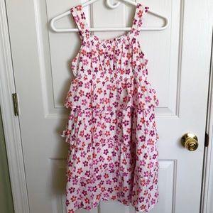 White Strawberry Ruffle Dress   Lands' End   10